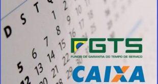 Calendário para saques em contas inativas do FGTS